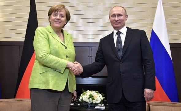 Angela Merkel Władimir Putin kremlinru