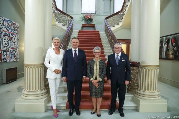 Prezydent Andrzej Duda z małżonką w Australii