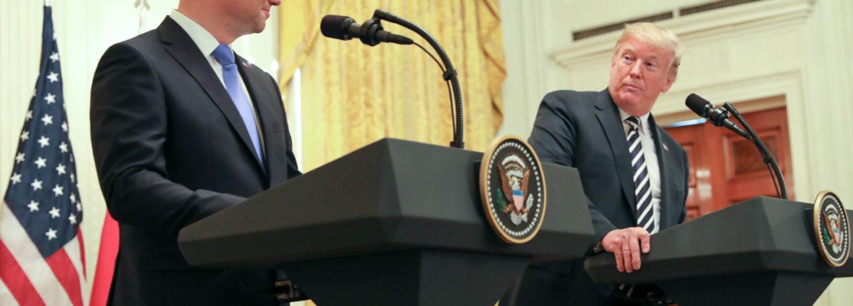 Andrzej Duda i Donald Trump. Fot. Kancelaria Premiera