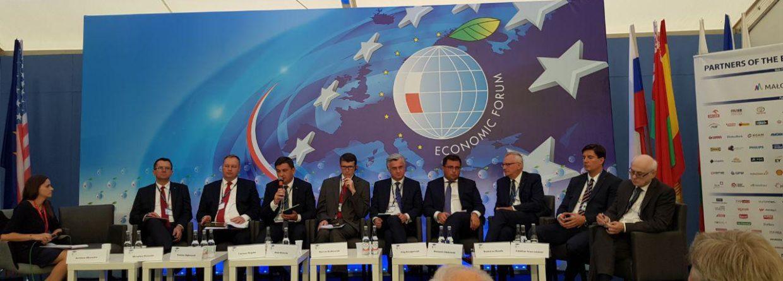 Panel o energetyce z udziałem ministra energii w Krynicy. Fot. BiznesAlert.pl
