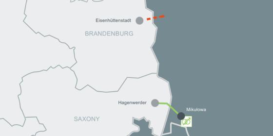 Przesuwniki fazowe na granicy Polska-Niemcy. Fot.: 50hertz