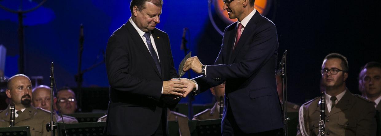 Saulius Skvernelis i Mateusz Morawiecki w Krynicy. Fot.: Forum Ekonomiczne