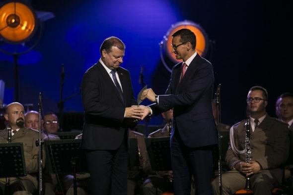 Saulius Skvernelis i Mateusz Morawiecki