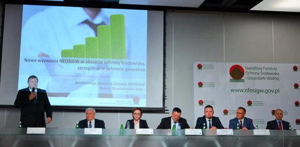 Zdjęcie z konferencji prasowej NFOŚiGW