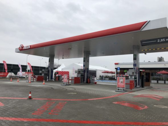 Innowacyjna stacja paliw Orlen drive pkn orlen. Fot. BiznesAlert.pl/Bartłomiej Sawicki