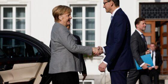 Angela Merkel i Mateusz Morawiecki. Fot.: Kancelaria Premiera