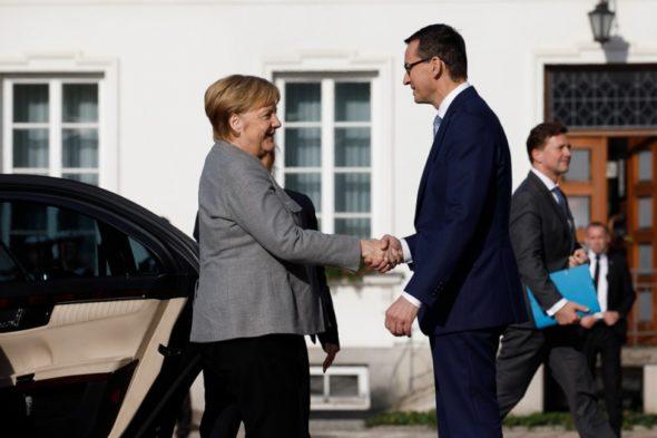Angela Merkel Mateusz Morawiecki 1