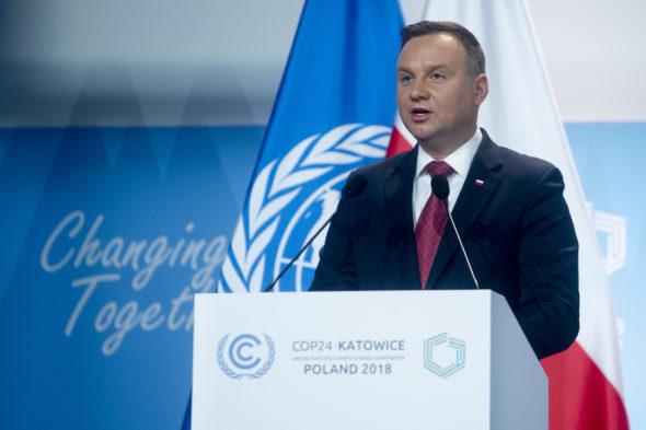 Prezydent RP, Andrzej Duda. Źródło: COP24