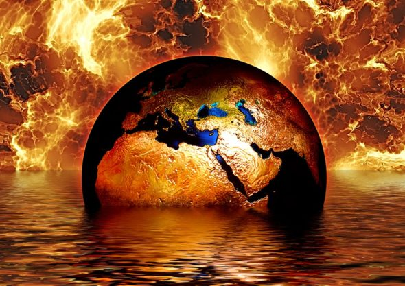 pixabay ziemia planeta globalne ocieplenie klimat ogień płomienie