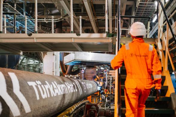 Budowa gazociągu Turkish Stream / fot. turkstream.info
