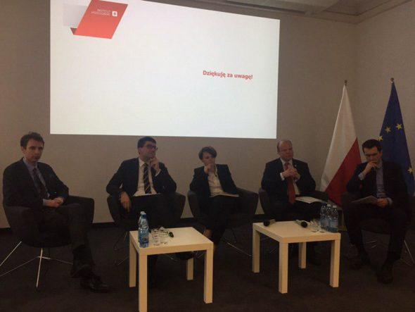 Prezentacja raportu Instytutu Jagiellońskiego w MPiT. Fot. BiznesAlert.pl