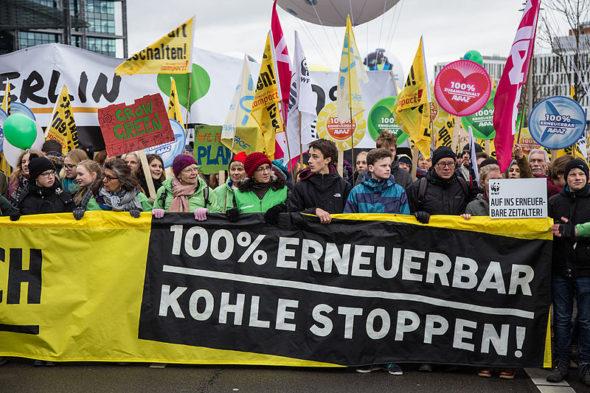 Protest przeciwko wykorzystaniu węgla w Niemczech. Źródło: Wikicommons
