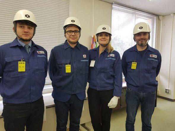 Dziennikarze w Elektrowni Ohio
