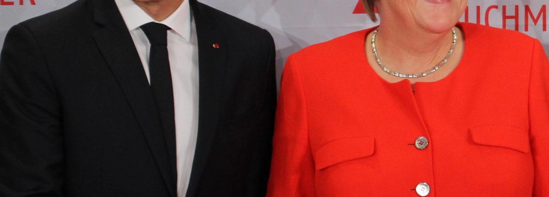 Emmanuel Macron i Angela Merkel. Źródło: WIkicommons