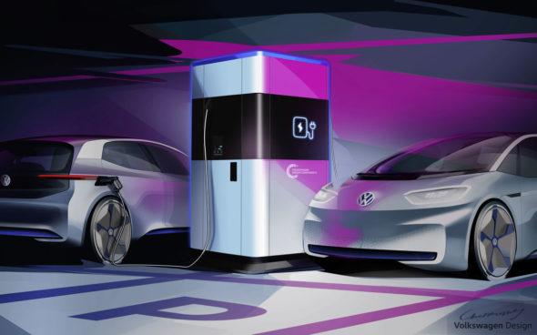 Mobilna stacja ładowania pojazdów Volkswagen