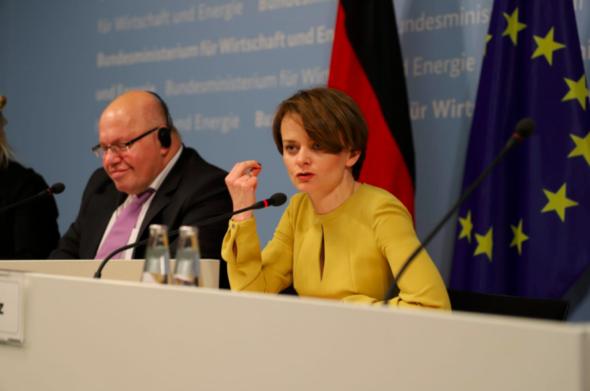 Konferencja prasowa Petera Altmaiera i Jadwigi Emilewicz. Źródło: MPiT
