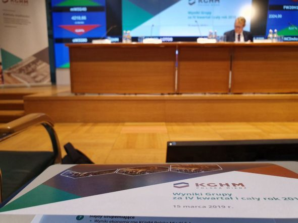Konferencja wynikowa KGHM. Fot. BiznesAlert.pl