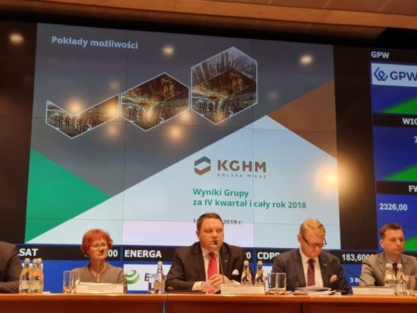 Konferencja prasowa KGHM. Fot. BiznesAlert.pl