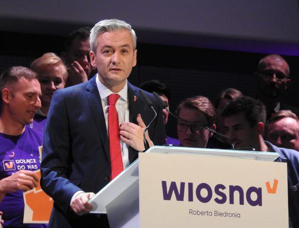 Robert Biedroń – konwencja wyborcza partii Wiosna