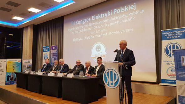 Minister Energii Krzysztof Tchórzewski podczas Kongresu Elektryki Polskiej / fot. Piotr Stępiński/BiznesALert.pl