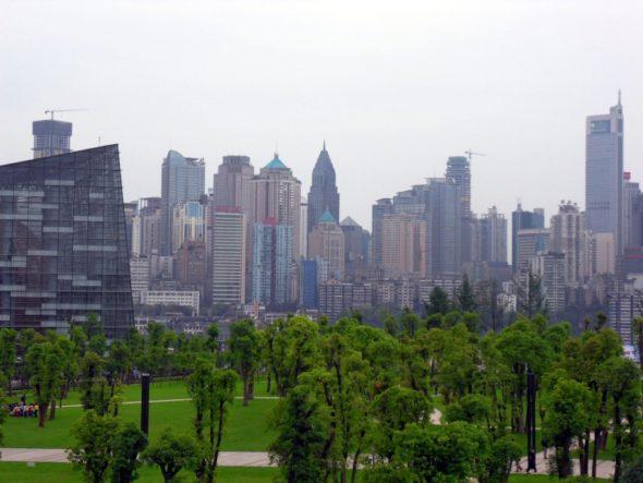 Las w chińskim mieście Chongqing. Źródło: Wikicommons