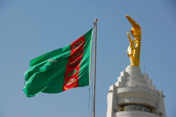 Flaga Turkmenistanu. Źródło: Flickr