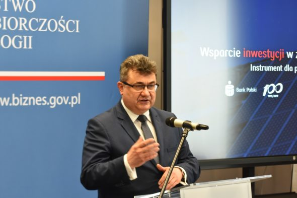 Wiceminister energii Grzegorz Tobiszowski. Fot. MPiT