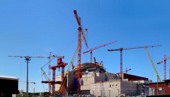 Budowa Olkiluoto 3. Źródło: Wikicommons