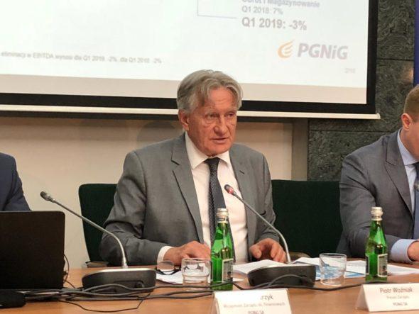 Prezes PGNiG Piotr Woźniak podczas konferencji wynikowej fot. Bartłomiej Sawicki/BiznesAlert.pl