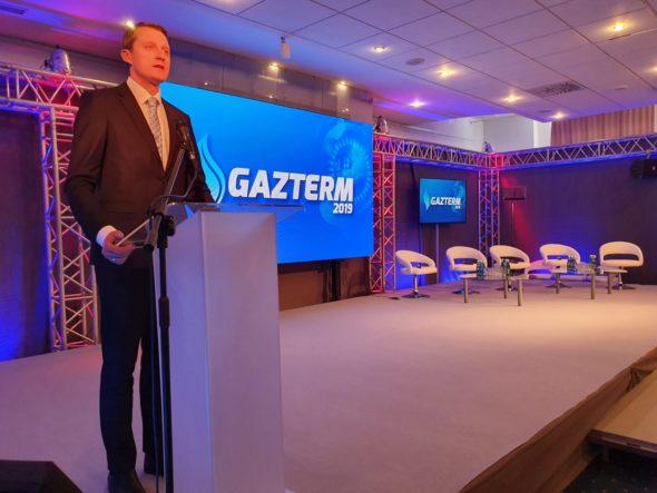 Minister Energii Republiki Litewskiej Žygimantas Vaičiūnas podczas Gazterm 2019 fot. BiznesAlert.pl