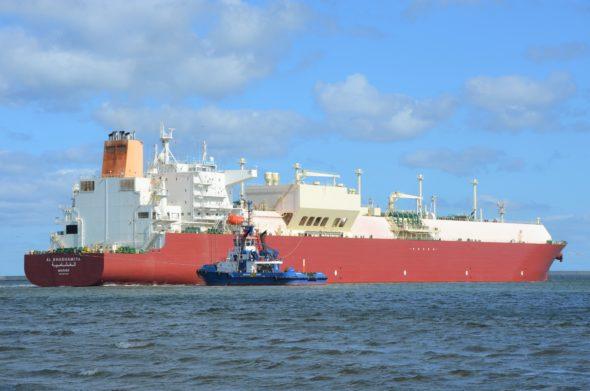 Do polskiego terminalu LNG w Świnoujściu dotarła 60. dostawa gazu skroplonego fot. Polskie LNG