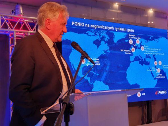 Prezes PGNiG S.A. Piotr Woźniak podczas konferencji Gazterm 2019 fot. BiznesAlert.pl