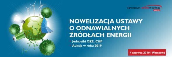 """Seminarium """"Nowalizacja ustawy o OZE"""" pod patronatem BiznesAlert.pl"""