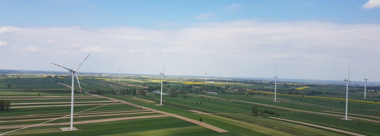 Farma wiatrowa w Skoczykłodach. Fot. BiznesAlert.pl
