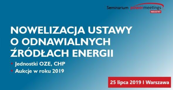 Nowelizacja ustawy o OZE – jednostki OZE CHP, Aukcje w roku 2019 pod patronatem BiznesAlert.pl