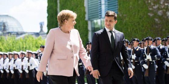 Angela Merkel i Wołodymyr Zełenski. Fot. Urząd Kanclerski RFN