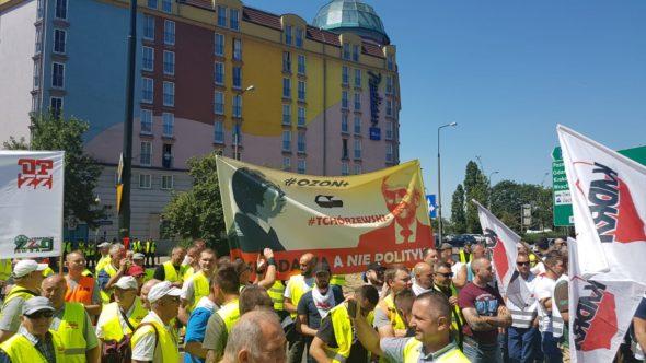 Strajk Związków Zawodowych JSW w Warszawie fot. BiznesAlert.pl