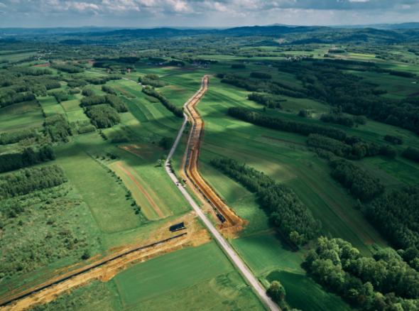 Gazociąg Pogórska Wola-Tworzeń. Fot. Gaz-System