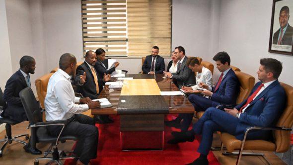 Przedstawiciele PKN Orlen podczas wizyty w Angoli. Fot. PKN Orlen