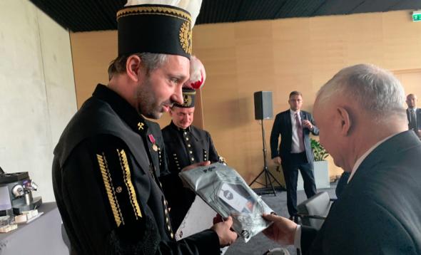 Jarosław Kaczyński i górnicy