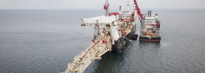 Układanie rur przez Solitaire. Fot. Nord Stream 2