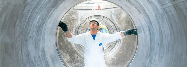 Prace przy rurach. Fot. Nord Stream 2