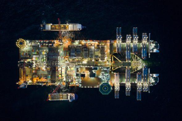 Pioneering Spirit buduje Nord Stream 2. Fot. Nord Stream 2