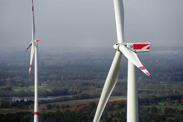 Farmy wiatrowe w Niemczech. Fot. GE