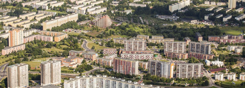 Budynki z wielkiej płyty - Żegrze i Rataje w Poznaniu. Źródło- Wikipedia