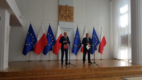 Konferencja prasowa w Ministerstwie Energii. Fot. Piotr Stępiński:BiznesAlert.pl