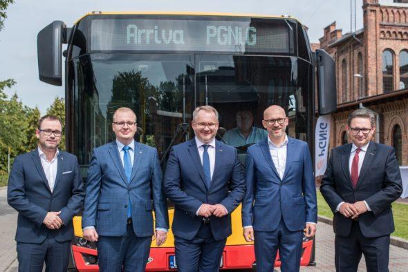 PGNiG OD dostarczy gaz autobusom Arriva. Fot. PGNiG