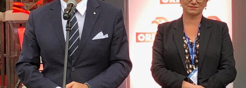 Daniel Obajtek, prezes PKN Orlen oraz Patrycja Klarecka członek zarządu PKN Orlen podczas Forum Ekonomicznego w Krynicy 2019. Fot. BiznesAlert.pl