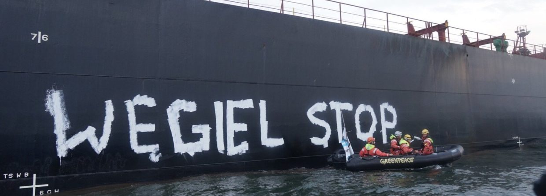 Akcja Greenpeace w Porcie Gdańsk. Fot. Greenpeace Polska