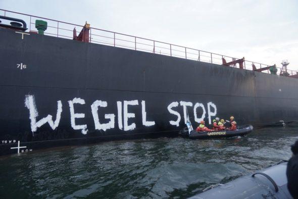 Węgiel stop Greenpeace